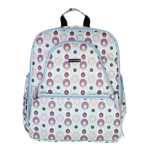 Многофункциональная сумка для пеленки для младенцев Большая вместимость 13 карманов Корзинка для бутылочек Рюкзак Одежда для игрушек Органайзер с изолированными карманами Коляски для мамы Светло-голубой