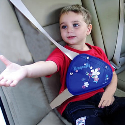 Child seat belt holder position adjuster Anti-pull neck device