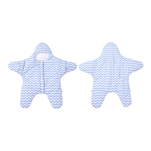 Cotton Baby Sleeping Bag Swaddle With Sleeves Starfish Sleep Sack Large Soft Anti-kicking Wearable Sleeping Nest   Stroller Blanket For 3-36 Months Infant Baby Toddler Blue Stripe