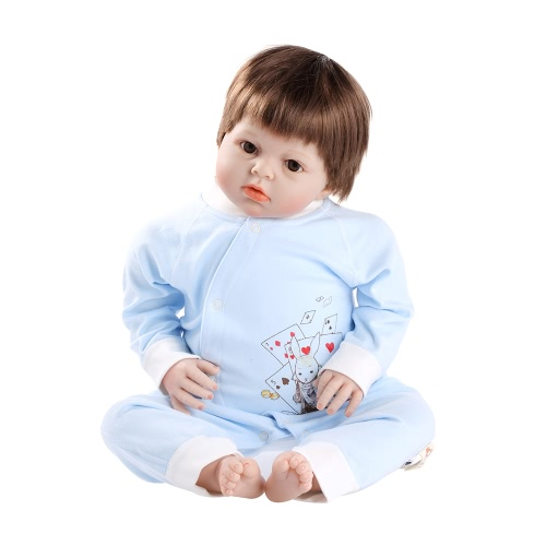 Baby Romper Unisex 100% Cotton Babysuit Baby Clothes Playsuit Long Sleeve Rabbit Print Spring Summer Autumn For Newborn   Infant Baby Girl Boy Blue 6-9M