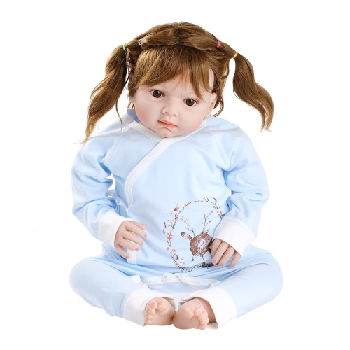 Baby Romper Unisex 100% Cotton Babysuit Baby Clothes Long Sleeve Playsuit Spring Summer Autumn For Newborn Infant Baby Girl Boy Blue 0-6M
