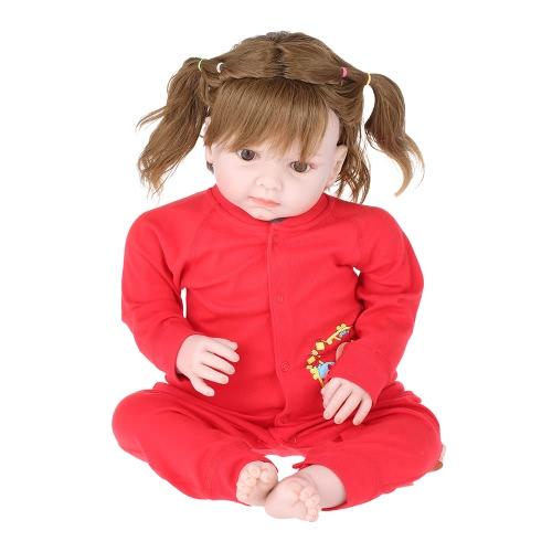 Baby-Spielanzug Unisex 100% Baumwolle Babysuit Baby Kleidung Spielanzug Chicken Print Langarm Frühling Sommer Herbst Für Neugeborenes Baby Baby Boy gebunden Schräge Öffnung Rot 0-6M