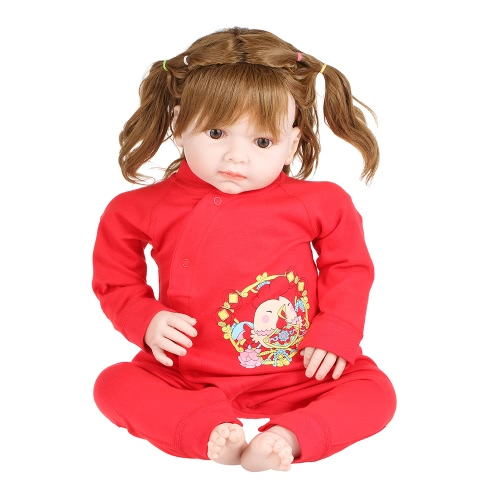 Baby Romper Unisex 100% Cotton Babysuit Baby Clothes Playsuit Chicken Print Long Sleeve Spring Summer Autumn For Newborn Infant Baby Girl Boy Tied Slant Opening Red 0-6M