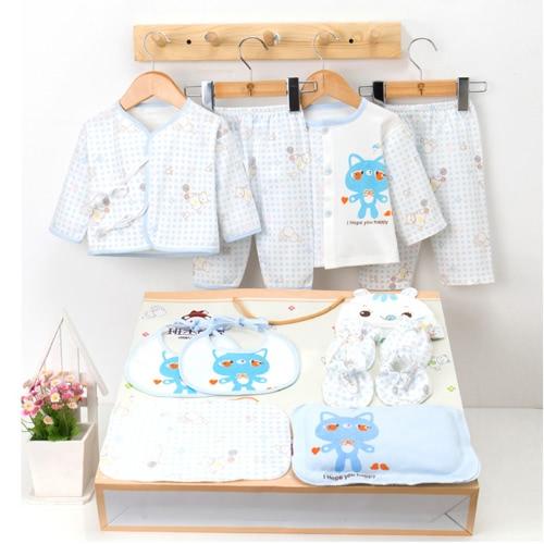 16Pcs Newborn Baby Clothes Set Unisex 100% coton Babysuit à manches longues et pantalons longs Nouveau-né Baby Essentials Gift Set pour Baby Girl Boy 0-3M Pink