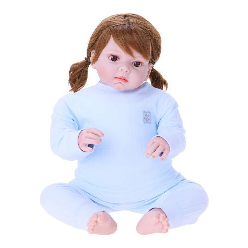 Baby Clothes Set 2pcs Unisex 100% Cotton Baby Outfits Clothing Long Sleeve Tops Long Pants Spring Summer Autumn Winter For Newborn Baby Girl Boy Blue 6-12M
