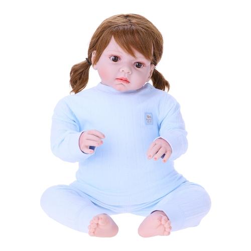 Комплект детской одежды 2шт Unisex 100% Хлопок Baby Outfits Одежда Длинные рукава Топ Длинные брюки Весна Лето Осень Зима для новорожденных Baby Girl Boy Blue 6-12M