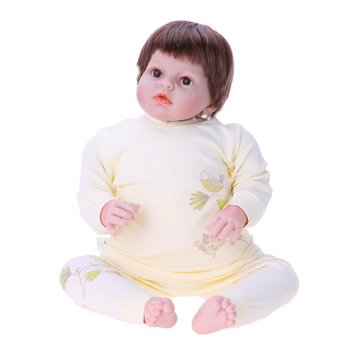 Baby Clothes Set 2pcs Unisex 100% Cotton Baby Outfits Clothing Long Sleeve Tops Long Pants Spring Summer Autumn Winter For Newborn Baby Girl Boy Bird Printing Yellow 3-6M