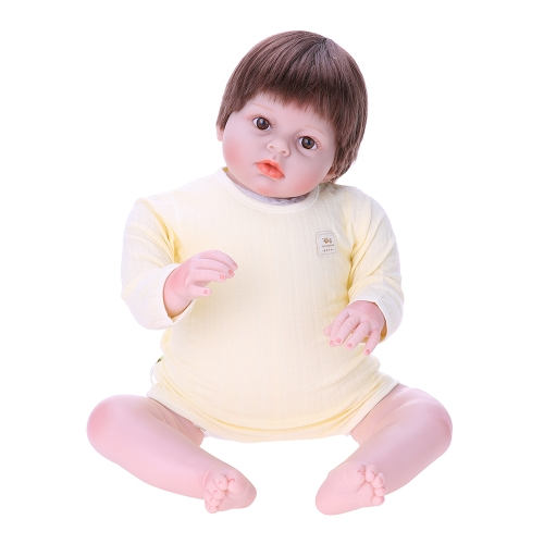 Baby Romper Unisex 100% Cotton Baby Clothes Bodysuit Playsuit Long Sleeve For Newborn Infant Baby Girl Boy Yellow 3-6M