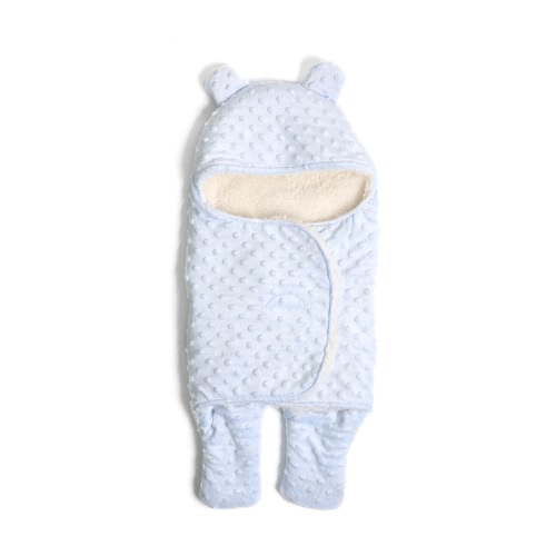 Knitting Solid Color Baby Swaddle Wrap Newborn Soft Snuggle Swaddling Blanket Thickening Warm Sleeping Bags