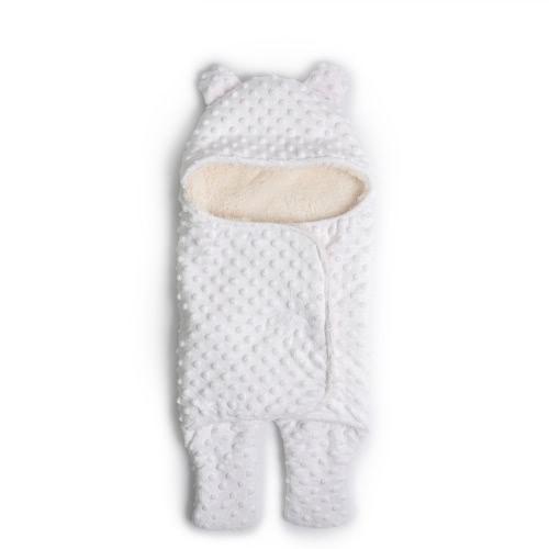Вязание сплошной цвет Baby Swaddle Wrap Newborn Soft Snuggle Пеленание одеяла Сгущение Теплые спальные мешки