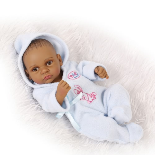 Reborn Baby Doll Baby Bath Toy Full Silicone Body Eyes Ouvrir avec des vêtements 10inch 25cm Lifelike Cute Gifts Toy Baby Boy