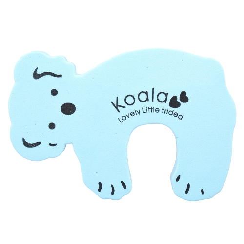 Cartoon Animal Foam Door Stopper Protective Cushion Holder Lock Safety Guard for Children Kids Baby Yellow Koala