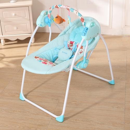 Elektryczna kołyska dla dziecka Huśtawka Kołyska Zdalne sterowanie Krzesło do spania Kosz Łóżeczko Łóżeczko dla noworodka Różowa