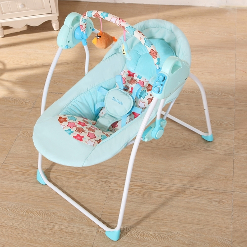 Eléctrico Bebé Cradle Swing Rocking Connect Mobile Play Música Silla Sleeping Basket Cama Cuna Para Recién Nacido Infantil Rosa