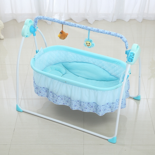 Elektrische Babywiege Cradle Swing Rocking Music Remoter Kontrolle Schlafkorb Bett Krippe