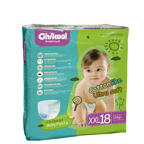Chikool Baby Training Diaper Pants Double Absorbent Layer Size L 22 Count For 18-22lb Baby Pull-Up Diapers Nappy