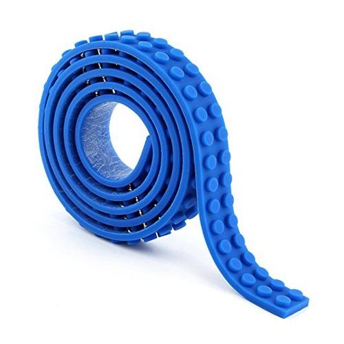 Cinta de bloques de construcción reutilizables de silicona para Lego Lover Kids Gift portátil sin daños a los niños