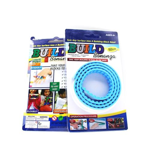Многоразовые силиконовые строительные блоки Лента для подарка для детей Lego Lover Portable Безвредность для детей