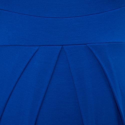 Image of Frauen Umstands Kleid geraffte Robe Rundhals 3/4 Ärmel Schwangerschaft Kleidung rot S