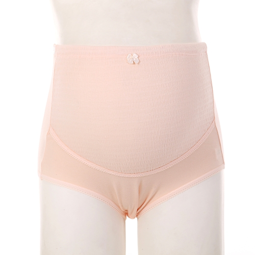 2Pcs Maternity Underwear Panties Cotton Abdominal Support High Waist Pregnancy Briefs Pink L