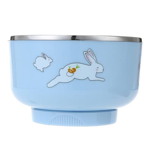 Inteligentna elektryczna miska grzewcza dla dzieci Baby Baby Rechargable Heating Antypoślizgowa zastawa stołowa ze stali nierdzewnej z pokrywką Pink