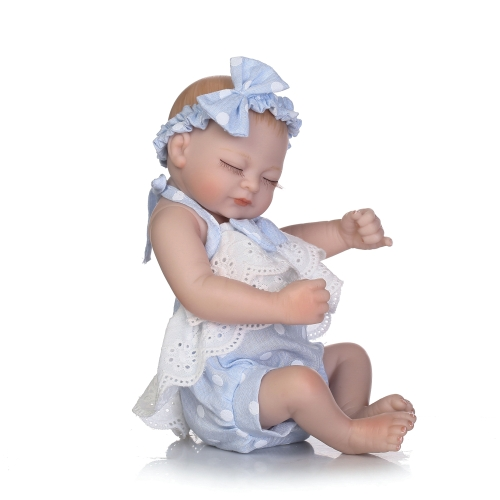 10 pulgadas 25cm Reborn Baby Doll Boy Full Silicone Sleeping Doll Bath Toy Realic realista rosa