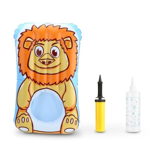 Tragbares aufblasbares Kolben-waschendes Kissen-wasserdichte Windeln ändern Auflage-Bettwäsche mit Luftpumpe-Spritzflasche