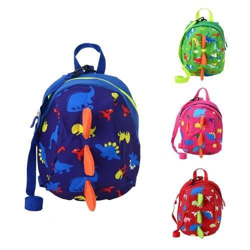 Детские школьные сумки Нейлон Симпатичные динозавры Путешествия Рюкзак Дети Детский сад Школьные сумки Зеленый