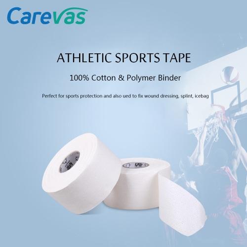 Carevas Cotton Athletic Sports Tape for Knee Splint Shoulder Muscle