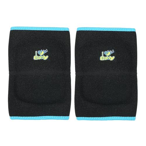 Support de genou ajustable pour enfant Collier en mousse à compression au genou Crashproof Anti-Slip Sport Protector pour garçons Filles Sport Danse Basketball Noir S