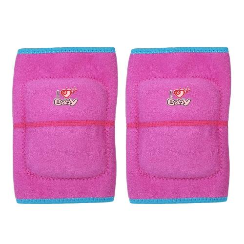 Child Adjustable Knee Brace Support Knee Compression Sleeve Pads Crashproof Anti-Slip Sport Protector for Boys Girls   Sport Dance Basketball Black S