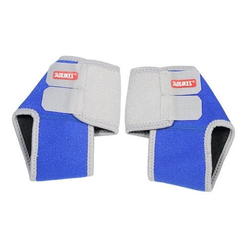 Adjustable Child Ankle Brace Support Guard Pads Foot Protector Anti-Slip Breathable for Boys Girls Sport Dance Blue S