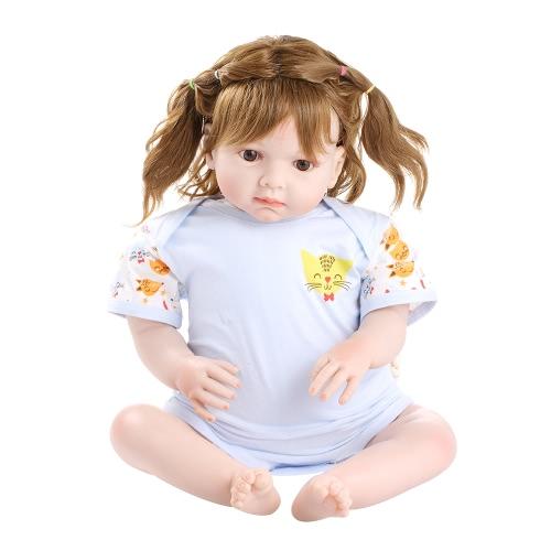 Baby Romper Unisexe 100% Coton Babysuit Vêtements pour bébés Combinaison de chat Impression de chandail Manches courtes Été pour nouveau-né Enfant Bébé garçon Rose 0-6M