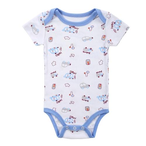 Baby Rompers Bodysuit 100% хлопок с коротким рукавом мужская новорожденная одежда для новорожденных 0-3M