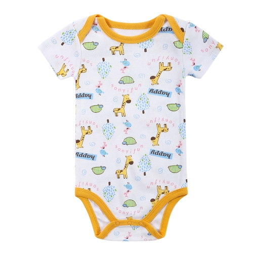 Baby Rompers Bodysuit 100% Cotton Short Sleeve Unisex Newborn Baby Clothing 0-3M