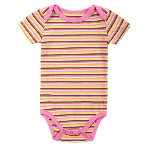 Mono de los mamelucos del bebé 100% algodón manga corta unisex recién nacido bebé ropa 0-3 M