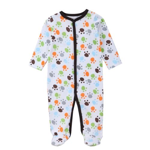 Детские комбинезоны Rompers Set Unisex 100% Cotton Jumpsuit Footsies Одежда для новорожденных Baby Infant 0-3M