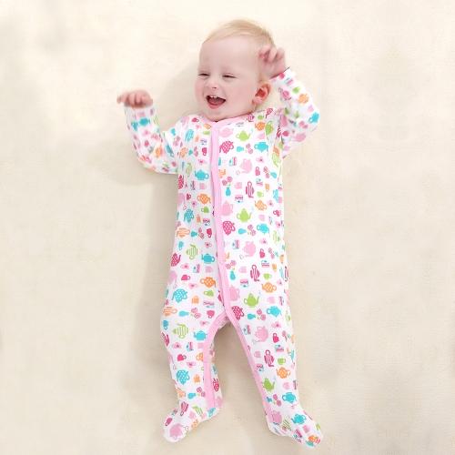 Batas de bebé mamelucos conjunto 100% algodón mono Footsies ropa para recién nacido bebé niña 0-3 M