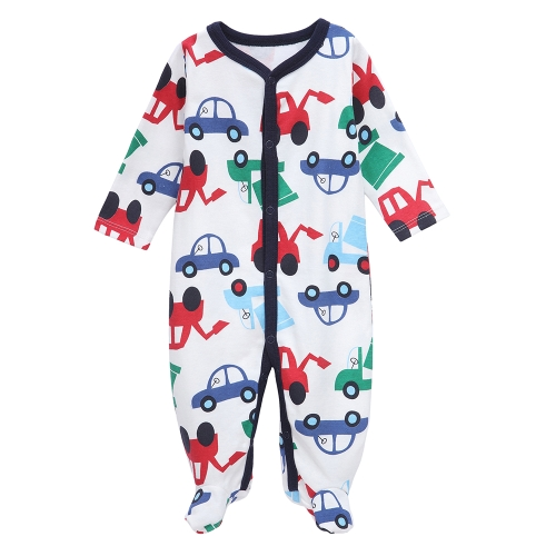 Baby Coveralls Rompers Set 100% Cotton Jumpsuit Footsies Clothing For Newborn Baby Infant Boy 0-3M