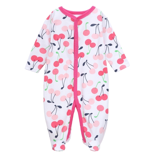 Baby Coveralls Rompers Set 100% Cotton Jumpsuit Footsies Clothing For Newborn Baby Infant Girl 9-12M