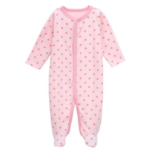 Les combinaisons de bébé Barboteuses Set 100% coton Jumpsuit Footsies vêtements pour bébé nouveau-né fille 0-3 mois