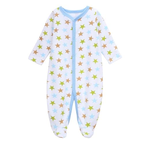 Batas de bebé mamelucos conjunto 100% algodón mono Footsies ropa para bebé recién nacido niño niño 9-12 M