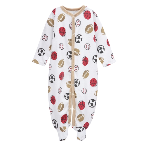 Ensemble de salopettes de bébé 100% coton Jumpsuit Footsies vêtements pour nouveau-né bébé garçon 9-12M