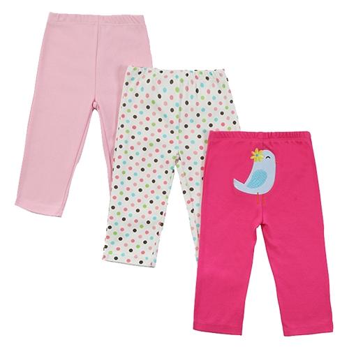 3Pcs Baby Pants Set 100% Cotton Unisex For Newborn Baby Infant 0-3Months