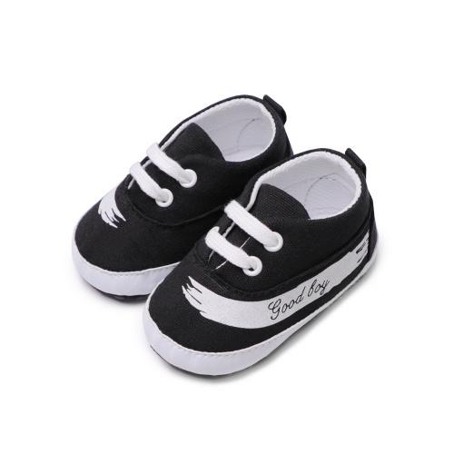 Младенческая малышей Детская повседневная обувь Хлопок Мягкая подошва Нескользящий кроссовщик Prewalker Blue 4M