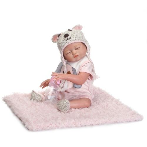 Second Hand Reborn Baby Doll Girl Baby Bath Toy Full Silicone Body Eyes Closed Sleeping Baby