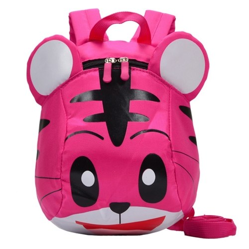 Kids School Bags With Safety Harness Nylon Cute Tiger Shaped Anti-lost Travel Backpack Children Kindergarten Schoolbags Yellow