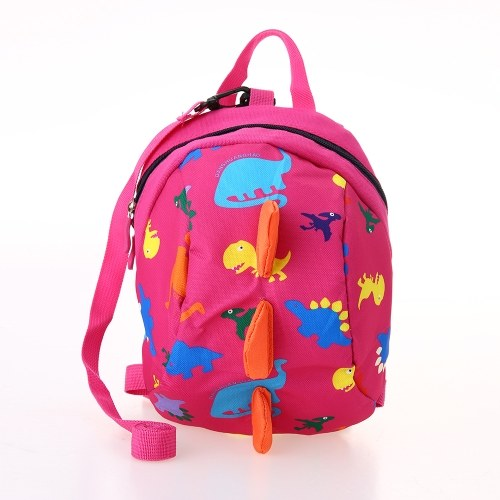 Kids School Bags Nylon Cute Dinosaur Travel Backpack Children Kindergarten Schoolbags Green