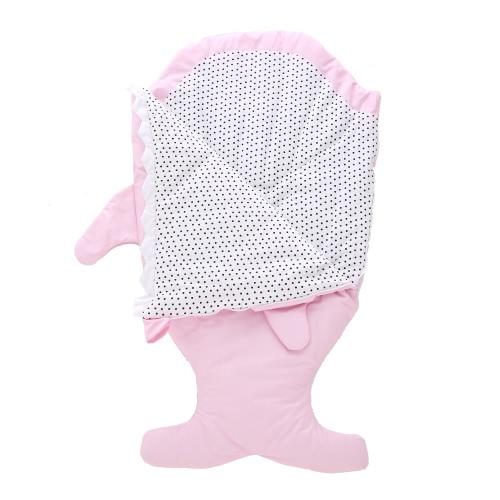 Детская спальная сумка Swaddle Shark Sleep Sack Large Soft Anti-kicking Sleeping Nest Wearable Коляска Одеяло Хлопок для 0-5 лет Младенец Малыш для малышей Черный