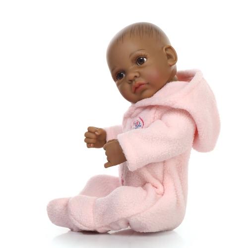 Image of Reborn Baby Puppe Baby Bad Spielzeug Voll Silikon Körper Augen offen mit Kleider 10inch 25cm Lifelike Cute Geschenke Spielzeug Baby Boy